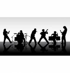 rock band silhouettes vector image