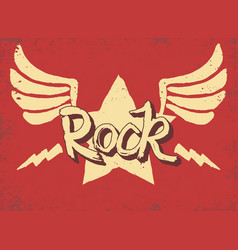 Rock star lettering hand drawn poster or t-shirt vector