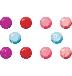 round gems vector image