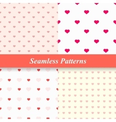 Seamless simple patterns with hearts vector