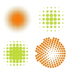 Set of Abstract Halftone Circles Logo vector image