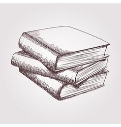 sketch books stack vector image