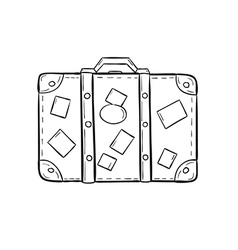 sketch of the suitcase vector image