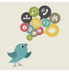 Social bird vector image