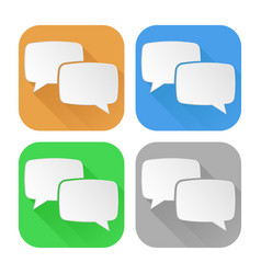 speech bubbles set of colored icons vector image