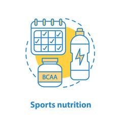 Sports nutrition concept icon vector