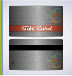 Steel Gift Card vector image