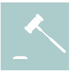 The judicial hammer the white color icon vector