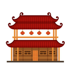 Traditional chinese building ancient temple vector