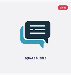 Two color square bubble icon from social concept vector