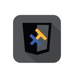 web development shield sign - H letter for vector image