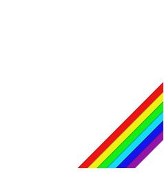 White background corner design with diagonal vector