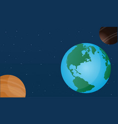 world day style on space design vector image