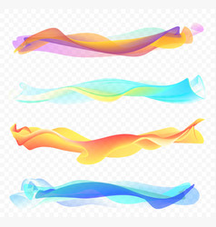 abstract smooth wave set vector image vector image