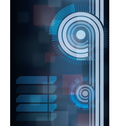 blue tech abstract background vector image vector image