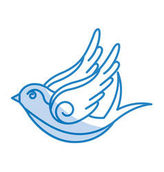 dove drawing isolated icon vector image
