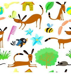 pattern with animals vector image vector image