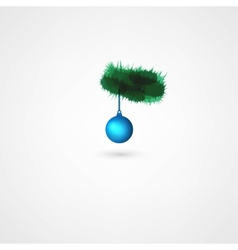 Christmas balls hanging on pine branch vector image