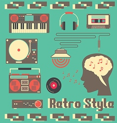 Music Retro Devices Style vector image