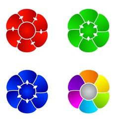 Organization charts vector image vector image