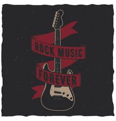 Rock music forever poster vector
