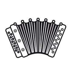 accordion musical instrument for kid baby toy vector image vector image