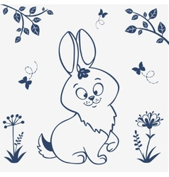 Bunny silhouette vector image vector image