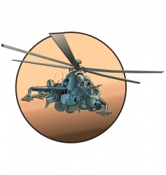cartoon military helicopter vector image