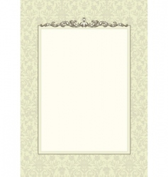 floral frame with ornament vector image vector image