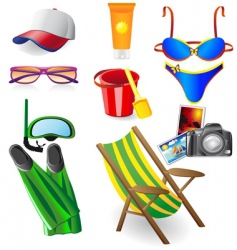 set from beach vector image