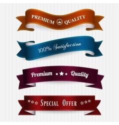 set of retro vintage labels vector image vector image