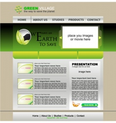 website green template vector image