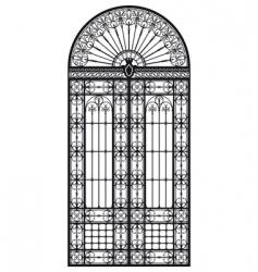 Wrought iron portal vector