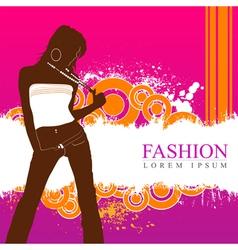 fashion women model vector image vector image