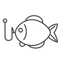 fishing line icon sign vector image