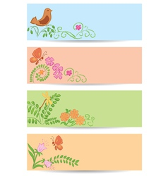 floral backgrounds with nature vector image vector image