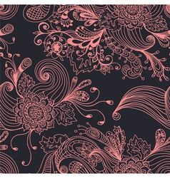 floral ornament seamless vector image vector image
