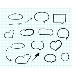 Hand-drawn doodle scribble web design elements vector image