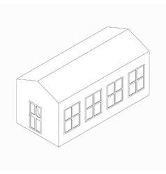 Long building icon isometric 3d style vector image vector image