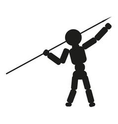 man thrower spear sign black vector image