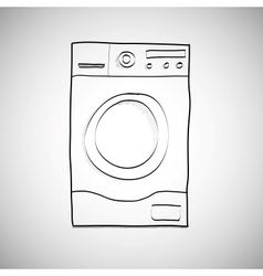 Washing machine Hand drawn sketch vector image vector image