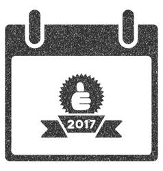 2017 Award Ribbon Calendar Day Grainy Texture Icon vector image
