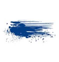 abstract blue ink grunge splatter isolated vector image