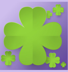Abstract four leaf clover vector