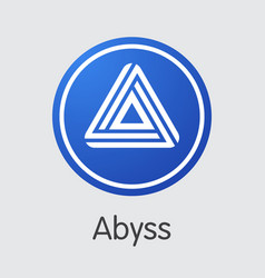 Abyss - cryptocurrency logo vector