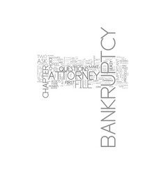 Advice about bankruptcy text word cloud concept vector