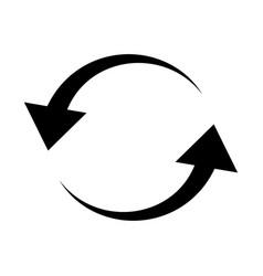 Arrowa in circle shape icon vector