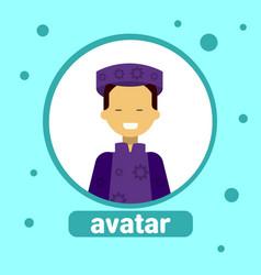 Asian woman avatar icon malaysia female vector