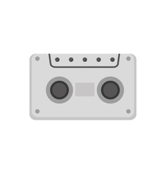 audio cassette retro media icon vector image