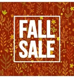 Autumn seasonal sale banner design Fal leaf vector